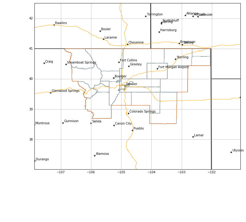 Map Resources And Topography Unidata AWIPS User Manual - Plot cities on a map